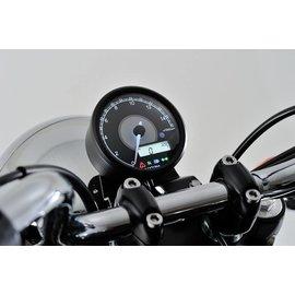 Daytona DAYTONA VELONA, Digitaler Drehzahlmesser mit Tacho, max. 9.000 U/Min, d 80 mm, schwarz