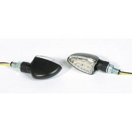 Shin Yo SHIN YO LED-Mini-Blinker ARROW, E-gepr., schwarz, kurzer Stiel