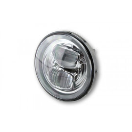 Highsider HIGHSIDER LED Hauptscheinwerfereinsatz TYP 7 mit Standlichtring, rund, chrom, 5 3/4 Zoll