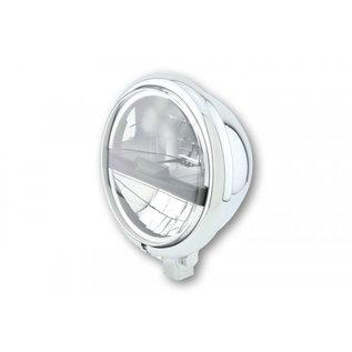 Highsider HIGHSIDER 5 3/4 Zoll LED Scheinwerfer BATES STYLE TYP 5, chrom, schw. Blende, untere Befest.