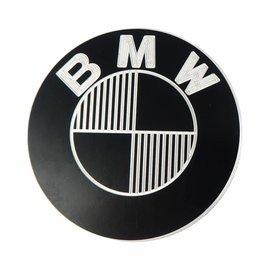 Paar BMW Embleme Aluminium 70 mm