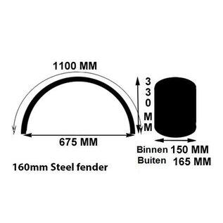 Fender / Schutzblech Bobber-Style 160 x 1100 mm Stahl