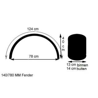 """Fender / Schutzblech 18"""" / 19"""" 140 x 1240 mm Stahl"""