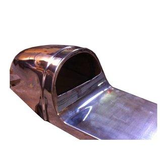 Cafe Racer Sitzhöcker aus Aluminium glänzend L= 670 mm