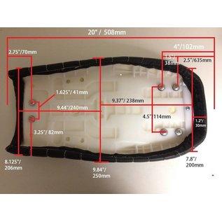 Cafe Racer Sitzbank Brat-Style Diamond Stitch schwarz Typ 67