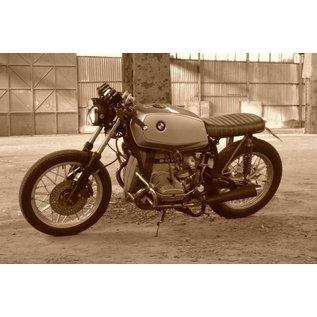 "Cafe Racer Sitzbank ""Tuck n' Roll - Brat"" dunkelbraun Typ 89"