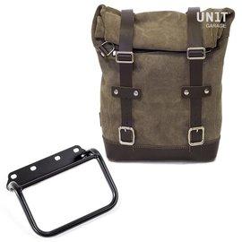 Unitgarage Seitentasche aus Spaltleder + Rahmen R80 G / S