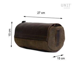 Unitgarage Atacama Canvas Tasche mit Lederüberzug