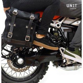 Unitgarage Seitentasche aus Leder und passender Halterahmen für BMW R nineT