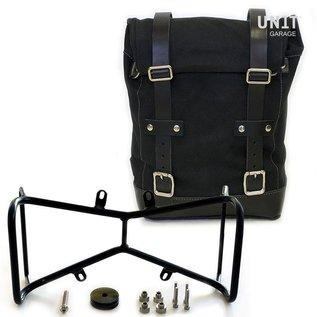 Unitgarage Seitentasche aus Leder und symmetrischer Halterahmen für BMW R nineT