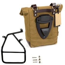 Unitgarage Seitentasche aus Leder mit Rahmen für BMW R nineT