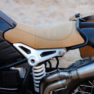 Unitgarage Sitzbank-Set Canvas beige mit Bügel und Schutzblech für BMW R nineT