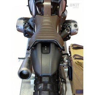 Unitgarage Sitzbank-Set braun mit Bügel und Schutzblech für BMW R nineT