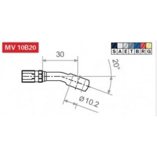 TRW Lucas TRW Fittinge für Stahlflex Bremsleitung - Kröpfung wählbar