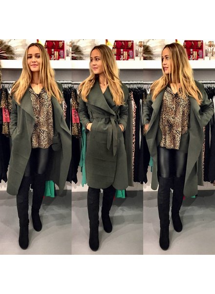 Parisian Coat Long - Army Green