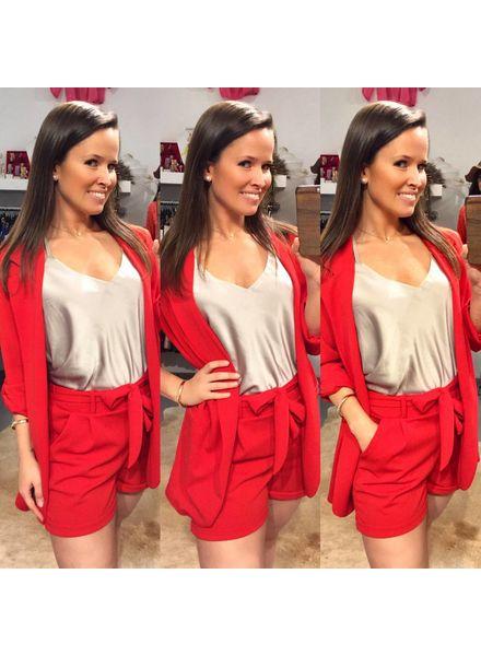 Stylish Summer Short - Red