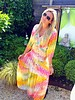 Bohemian Hippy Dress - Yellow/Fuchsia