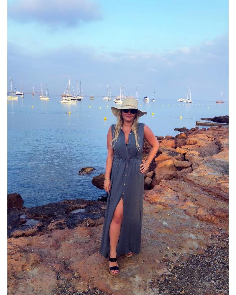 Maxi Button Dress - Antracite