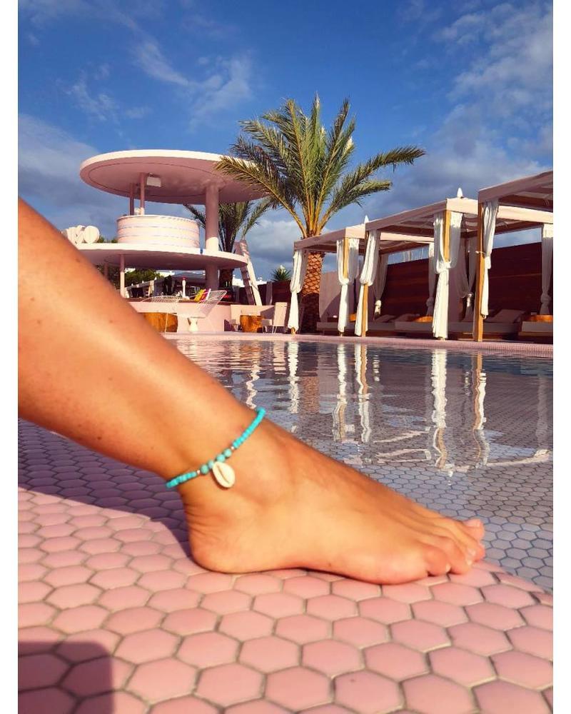 Ibiza Ankle Bracelet - Turquoise