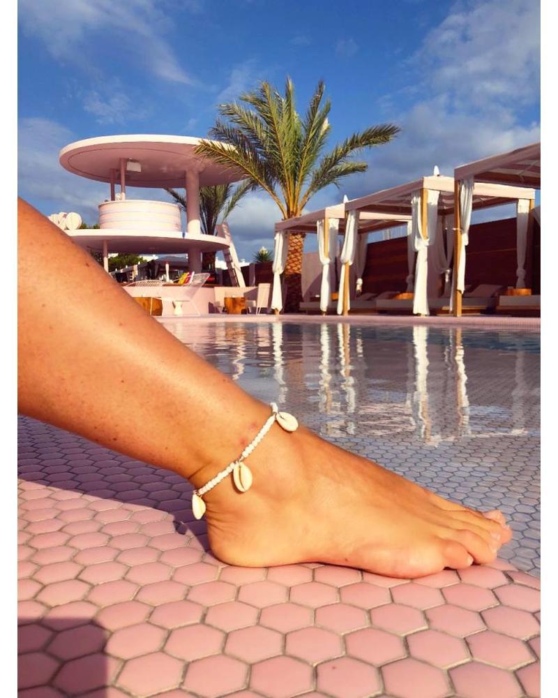 Ibiza Ankle Bracelet - White