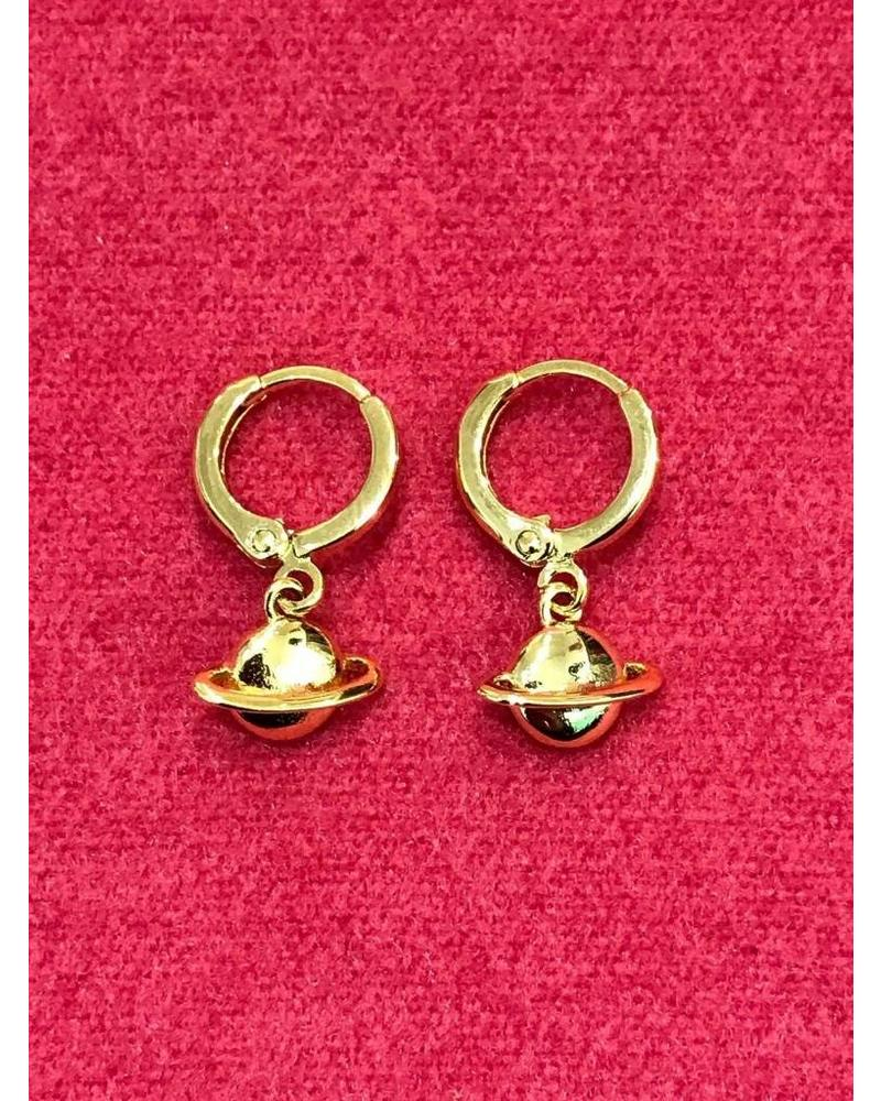 Planet Earrings - Gold Plated