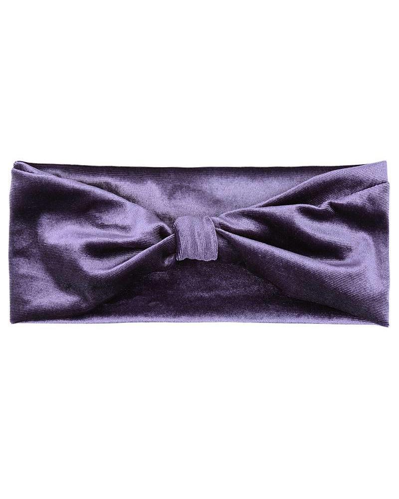 Velvet Headband - Purple