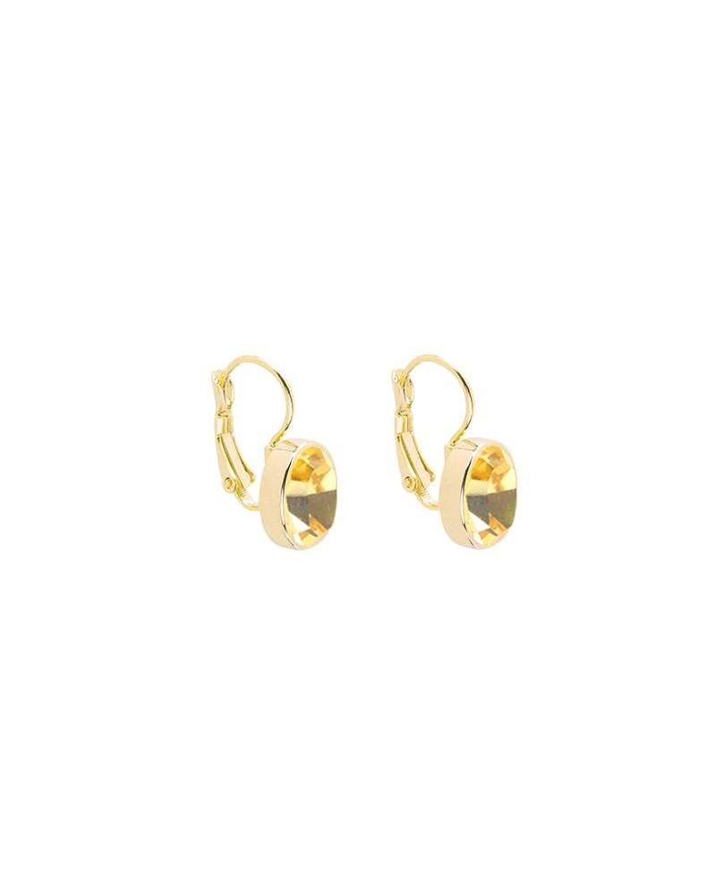 Casual Chic Earrings - Gold/Oker