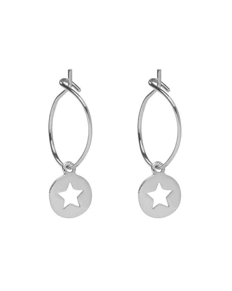 Twinkle Star Earrings - Silver