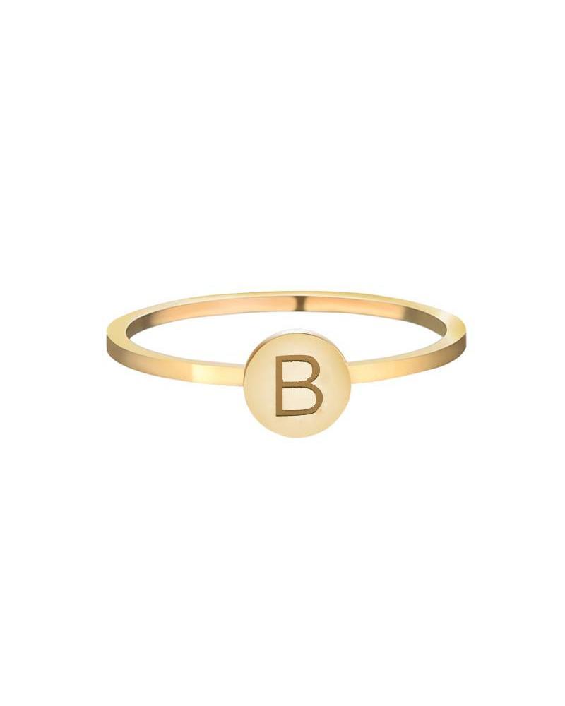 Initials Ring B - Gold