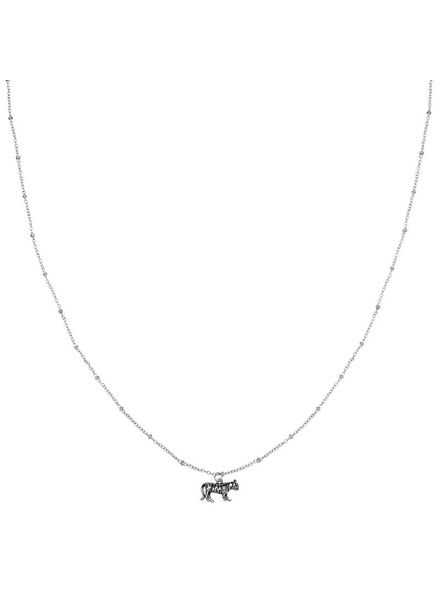 Wild Tiger Necklace - Silver