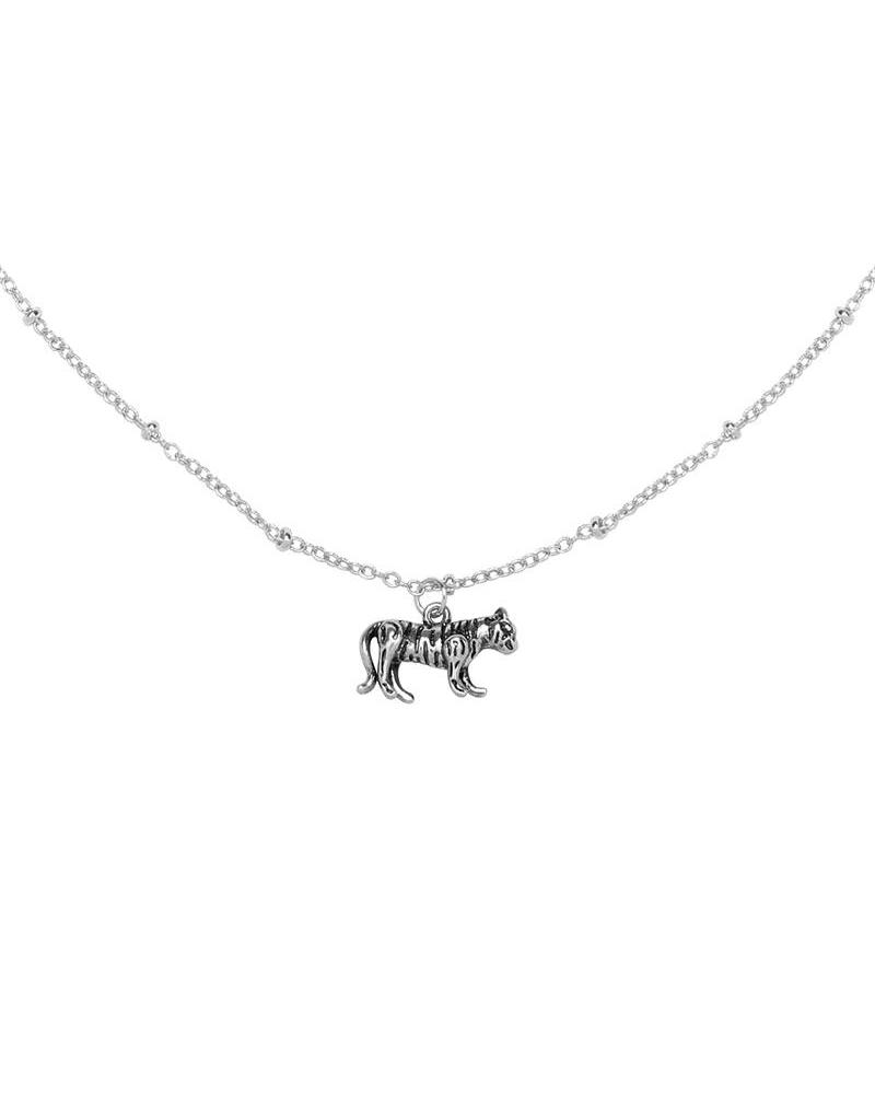 Wild Tiger Necklace - Silver
