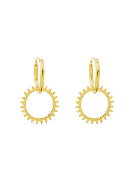 Sun Earrings - Gold
