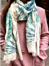 Paradise Peacock Scarf - Green