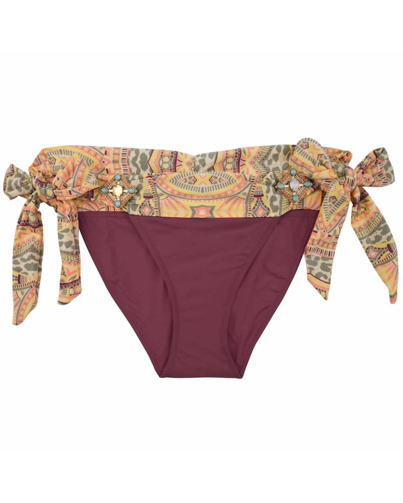 The Elite Boho Bikini bottom - Aubergine