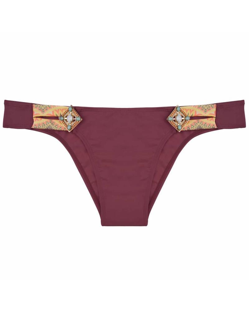 The Lush Boho Bikini bottom - Aubergine