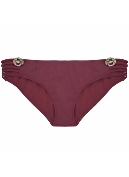 The Fancy Boho Bikini bottom - Aubergine