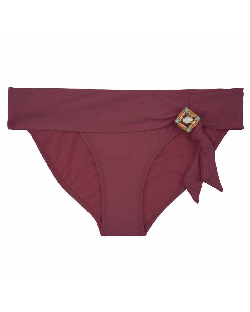The Fabulous Boho Bikini bottom - Aubergine