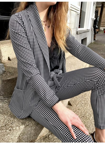 Houndstooth Summer Suit - Black/White
