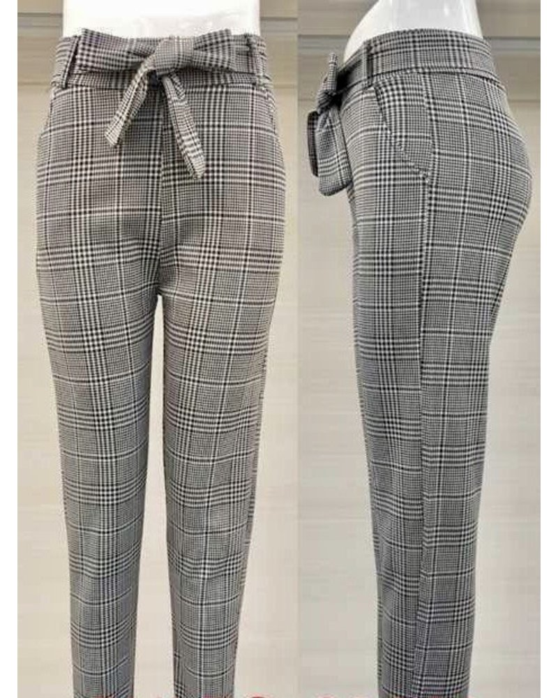 Checkered Strik Pants - Grey