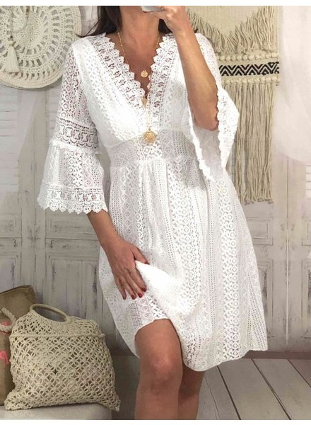 Ultimate Summer Lace Dress - White
