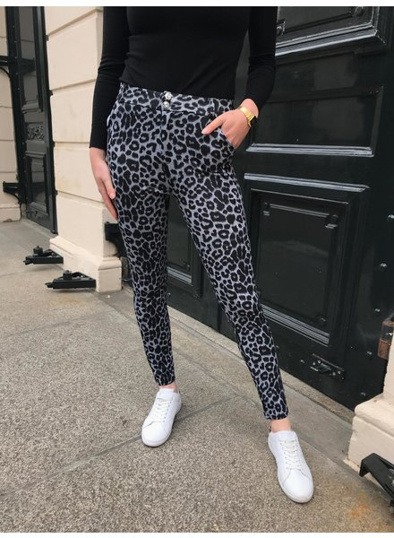 Perfect Leopard Pants - Grey