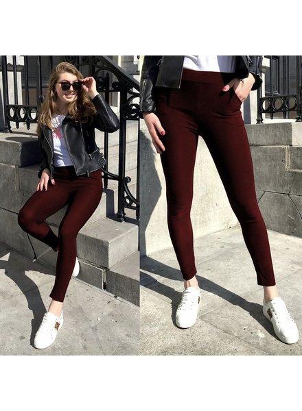 Perfect Bordeaux Pants
