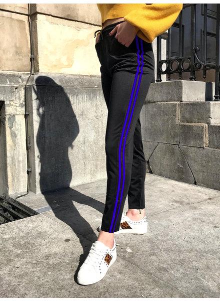 Basic  Striped Jogging - Black/Kobalt