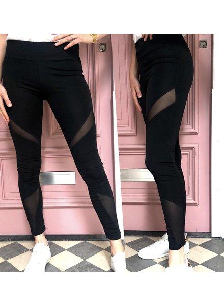 Transparant Striped Sporty Legging
