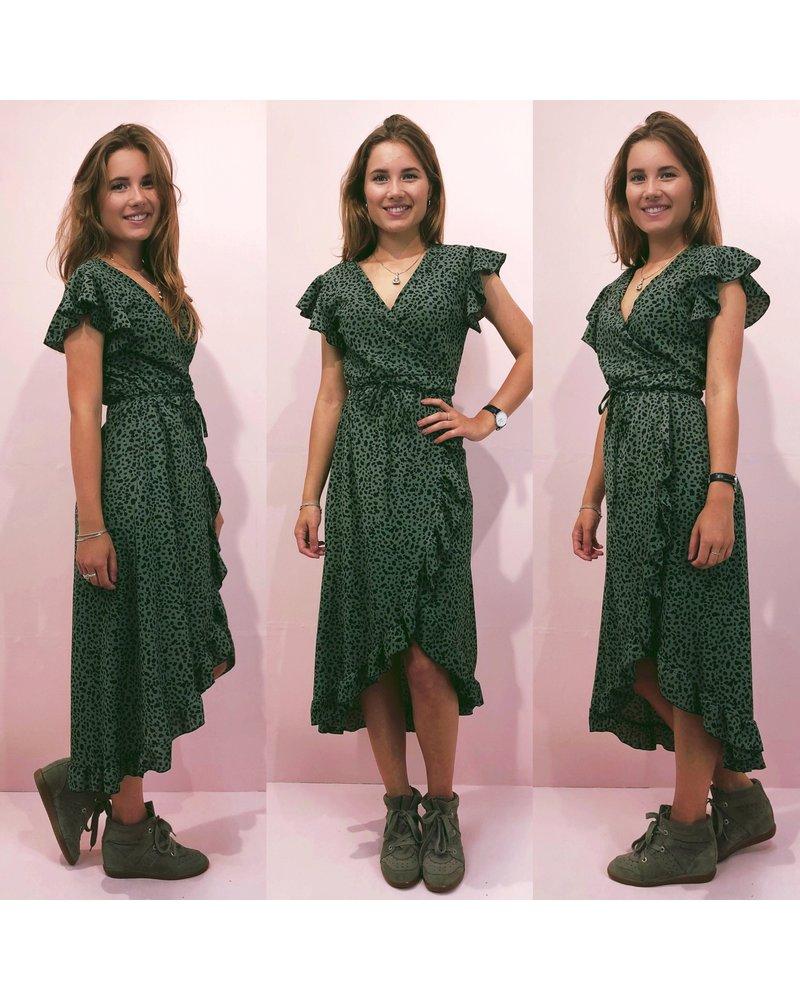 Cheetah Dress - Armygreen