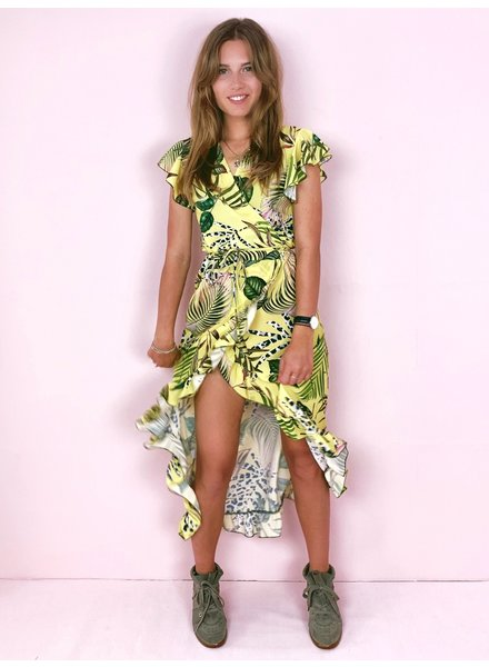 Safari Print Dress - Yellow