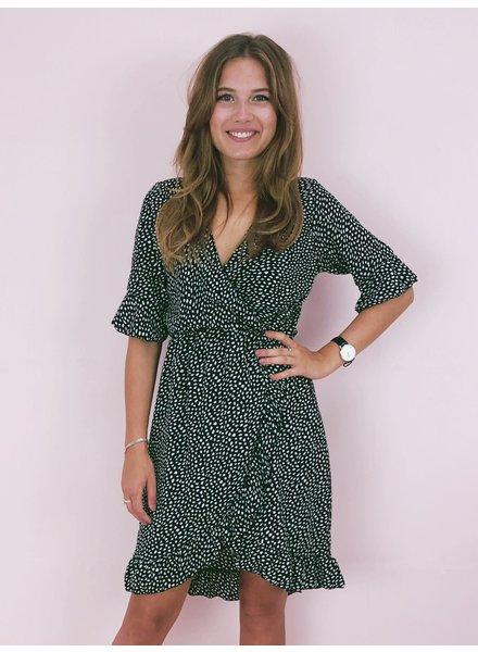 Short Spanish Cheetah Dress - Black