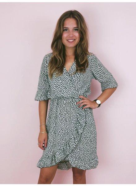 Short Spanish Cheetah Dress - Beige