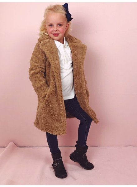 Teddy Coat Kids - Camel