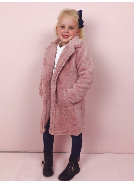 Teddy Coat Kids - Pink